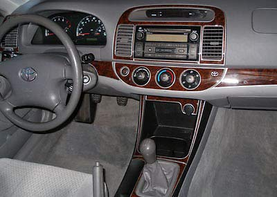 - Toyota CAMRY INTERIOR BURL WOOD DASH TRIM KIT SET 2002 2003 2004