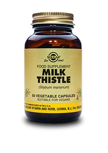 Solgar Full Potency Milk Thistle Vegetable Capsules, 50 Coun