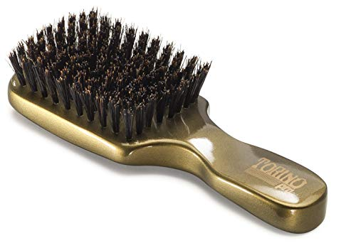 - Torino Pro Club Brush #890 (MEDIUM HARD) by Brush King - Men's Travel Size Hair Brush, Club Style - Reinforced Boar Bristles - Great for Thick Hair