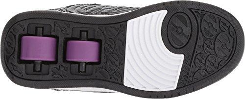 Pictures of Heelys Girls' Plus X2 Tennis Shoe Black HE100321 Black Sparkle/Purple 2