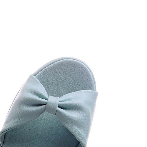Allhqfashion Morbido Sandali Unita Tinta Fibbia Con E Donna Cinturino Da Materiale rqgrxpnE1