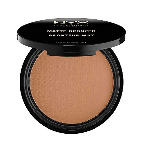NYX PROFESSIONAL MAKEUP Matte Bronzer, Medium, 0.33 Ounce (Best Bronzer For Contouring Olive Skin)