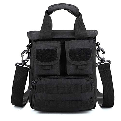 JITALFASH Men's Messenger Waterproof Multi-Function Canvas Crossbody Bag Military Army Shoulder Bag Black