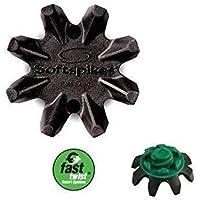 Black Widow Soft Spikes for Footjoy golf shoes Fast Twist Thread x 16