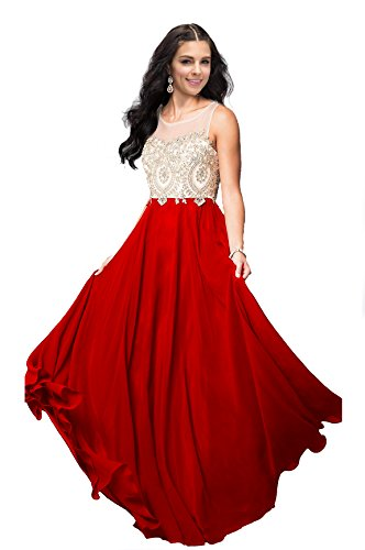 Lily Wedding Womens Halter Gold Applique Prom Bridesmaid Dresses 2018 Long Chiffon Evening Formal Gowns P199