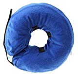 Recovery Protective E-Collar Inflatable Cone for Dogs and Cats Injuries Rashes Surgery ((Medium,NECK CIR 10-15))