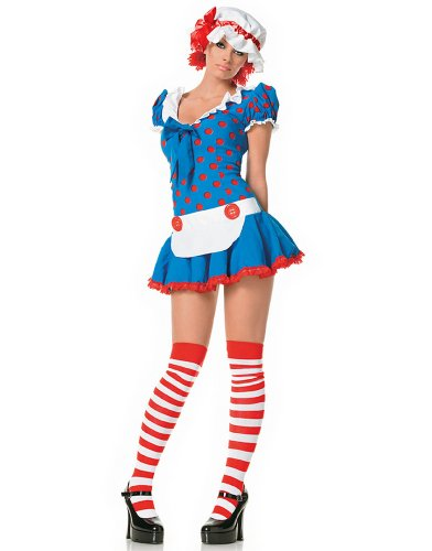 Leg Avenue Women's 3 Piece Rag Doll Costume, Multi, X-Small