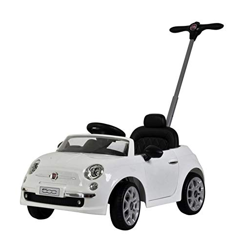 KidPlay Products Licensed Fiat 500 Push Car White Adjustable Handle Stroller