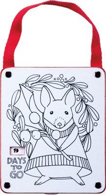 Chipmunk Countdown Wood Coloring Ornament - Set Of 6