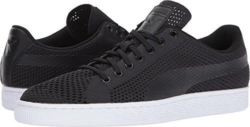 PUMA Basket Classic Evoknit Fashion Sneaker, Black Blac, 11 M US