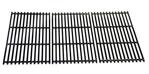 VICOOL hyG937C Glossy Porcelain Coated Cast Iron Cooking Grid Grates for Charbroil 463242715, 463242716, 463276016, 466242715, 466242815 Gas Grills, G533-0009-W1, Lowe's #606682, Walmart #555179228