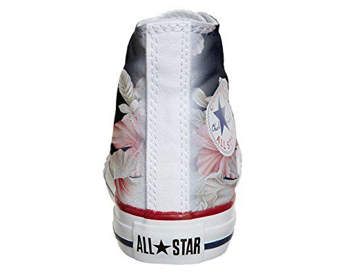 Converse All Star Customized - zapatos personalizados (Producto Artesano) Fiori Rosa