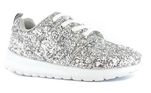 Ella , Mädchen Sneaker Silber