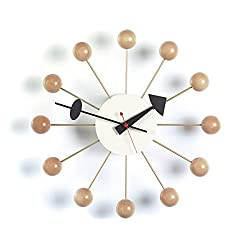 Vitra Men's George Nelson Ball Clock, Natural, One Size