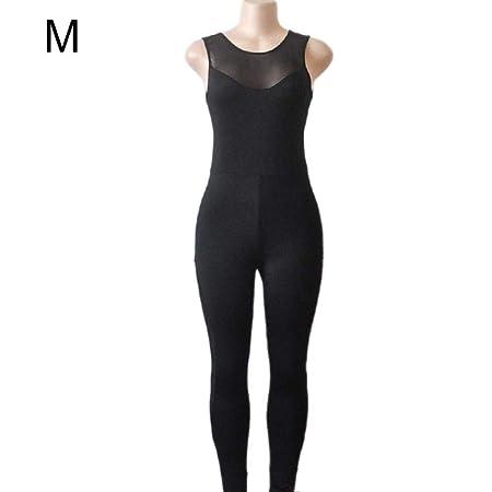 wonderfulwu Pantalones de Yoga Leggings Negro Sin Mangas ...