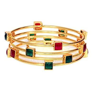 buy silver gold hkinc carat bangles polish women emerald for dp based bangle