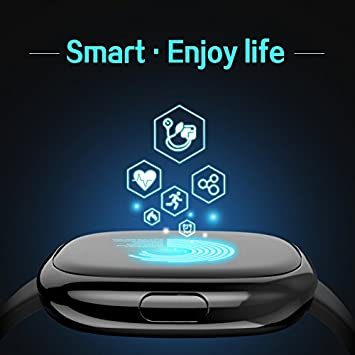 TOM TONY Blood Pressure Fitness Tracker,Fitness Tracker Wristband,Heart Rate Monitor Smart Band, Sports and Activity Tracker Both for iOS and Android Mobile Phone
