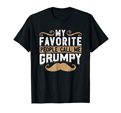 Mens funny old man shirt my favourite people call me -