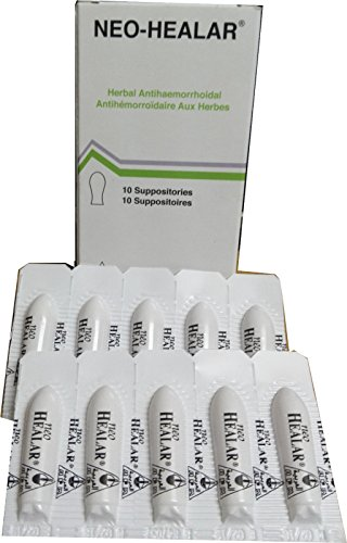 Neo Healar 100% Natural&Scientifically Proven to Cure Haemorrhoid Suppositories ()