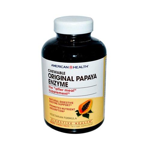 - American Health Original Papaya Enzyme Chewable - 600 Tablets