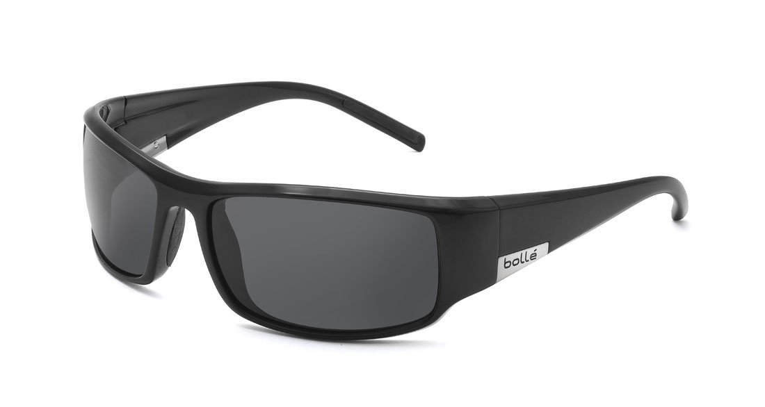 Bolle King Sunglasses, Shiny Black, TNS by Bolle