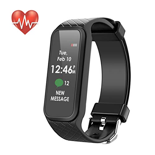 Fitness Tracker, Waterproof Smart Fitness Band with Step Counter, Calorie Counter, Heart Rate Monitor, Activity Tracker Watchr for Men, Women, ‎Kids(Black)