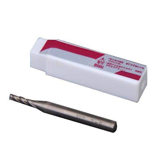 Sonline HSS 4 Flauta 3mm x 6mm vastago fresa de extremo