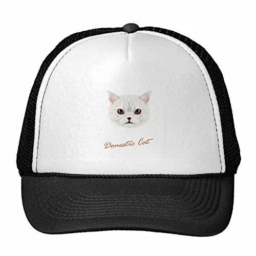 DIYthinker White Domestic Cat Pet Animal Trucker Hat Baseball Cap Nylon Mesh Hat Cool Children Hat Adjustable Cap Gift