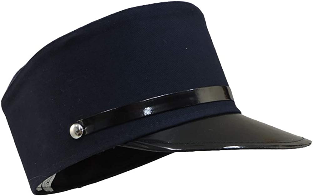 Navy Blue Train Engineer Conductor Hat Costume Accessory