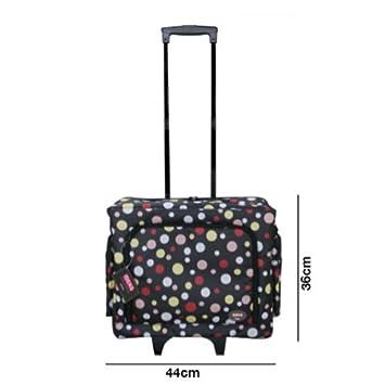 Maleta trolley Estampado topos con clasificadores para máquina de coser con departamentos para accesorios: Amazon.es: Hogar