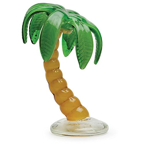 "Glass Handmade Palm Tree - 8"" Tall - FREE Shipping to the lower 48 on orders over $35.00"