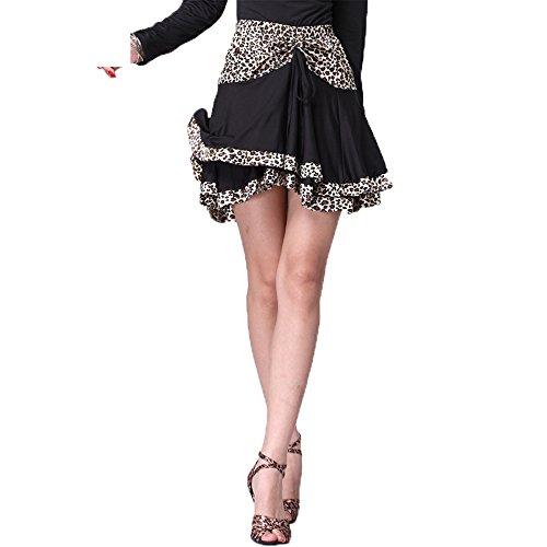 FaithYoo Damen Schößchen Kleid Schwarz Schwarz