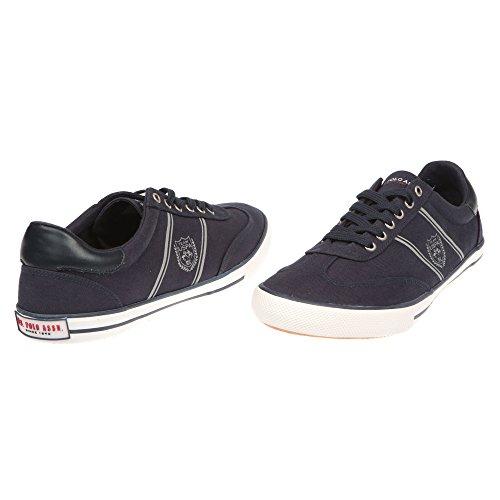Zapatillas de Hombre POLO Hombre con Cierre de Cordones - mod. MARCS4194S7-C1 azul oscuro