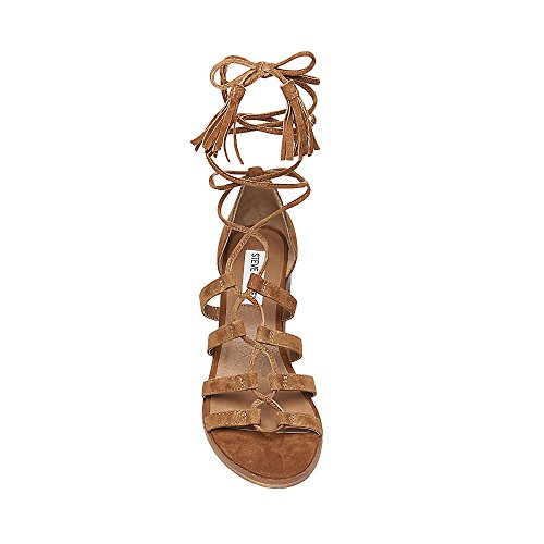 Rosel Steve Suede Madden Open Toe Ghillie Dress Womens Sandals Cognac rTr6PqxE