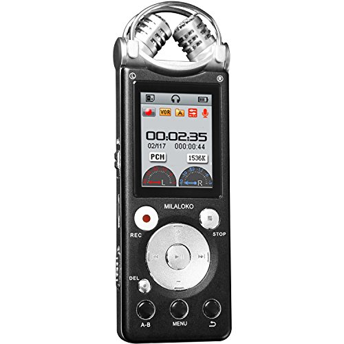 Professional Voice Recorder MILALOKO Double Mic HD Voice Act
