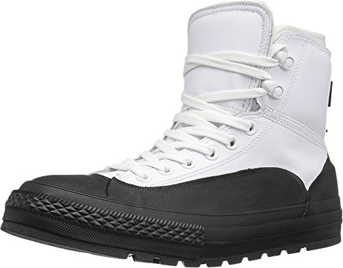 Converse Chuck Taylor Tekoa Boot Water Resistant Leather Rubber (9 D US) White/Black (Converse Chuck Taylor All Star Tekoa Waterproof)