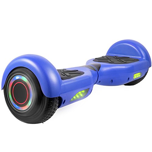 GoToWheels 6.5 Hoverboard UL 2272 Certified Two-Wheel Self Balancing Electric Scooter With LED Light and Bluetooth Speaker