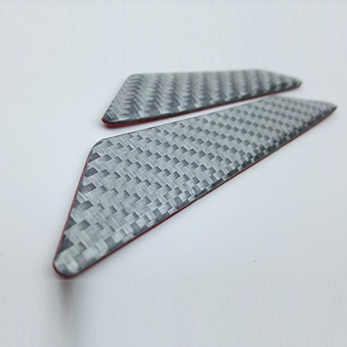 TOOGOO 1set 4pcs Carbon Fiber Door Anti-Collision Strip Car Door Anti-rubbing Door Anti-Collision Tape Body Stickers Grey by TOOGOO (Image #1)