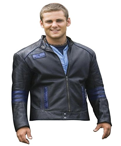 Power Rangers Costume Ideas (Flynn McAllistair Costume Ideas Power Rangers Black Synthetic Leather Jacket For Mens XS)