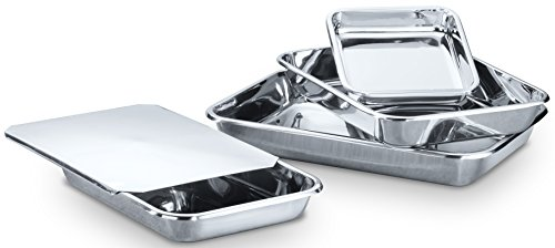 Hammer Stahl MI-138 Rectangular Bake Set Bakeware, Stainless Steel by Hammer Stahl