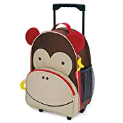 Skip Hop Kids Luggage with Wheels, Zoo, Monkey