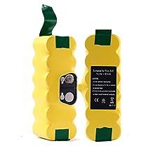 Topbatt 14.4v 3500mAh Battery for iRobot Roomba 500 510 530 532 535 600 610 700 760 770 780 800 Series 2Packs