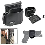 WorldShopping4U NEW Rotates 360 Tactical Glock Clip MOLLE / Belt Holster for Glock 17 19 22 23