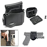WorldShopping4U New Pivote 360 ​​Tactical Glock Clip Molle/Belt Holster pour Glock 17 19 22 23