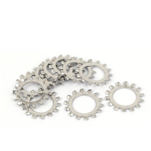uxcell M14 304 Stainless Steel External Star Lock Washers 10 Pcs ()