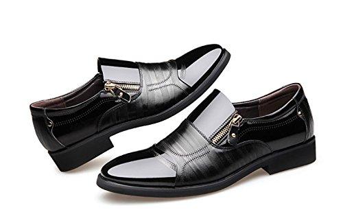 en Hommes Casual pour Business Black Chaussures Dress LEDLFIE pour Cuir Chaussures Hommes Bqpw5nx7