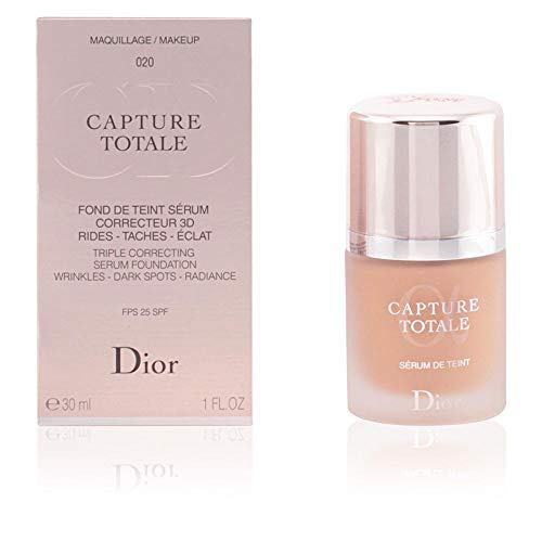 Christian Dior Capture Total Triple Correcting Serum SPF 25 Foundation, No. 020/Light Beige, 1 Ounce
