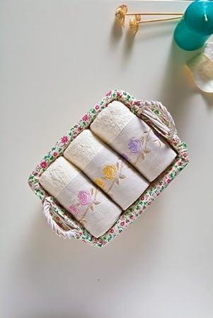 Korb Für Gästehandtücher handtuch set 3 er set gästehandtücher im korb farbe weiß mit