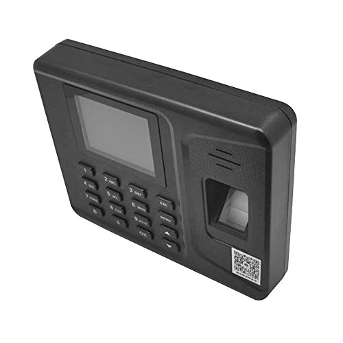 Tukzer 2.8 pantalla LCD de fichar biométrica de huellas dactilares fréquentation máquina reloj registrador Employés del Check-in unidad DC 5 V/1 A: ...