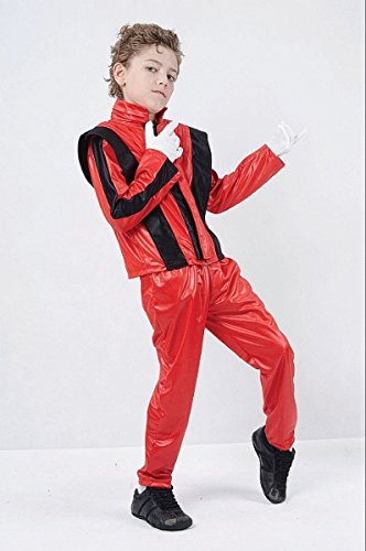 Large Red Superstar Jacket & Trousers Costume,Large